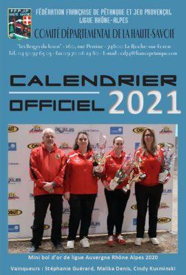 Couverture calendrier 2021